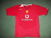 2004 2006 Manchester United Heinze Childs age 10 11 Home Football Shirt Top Jersey